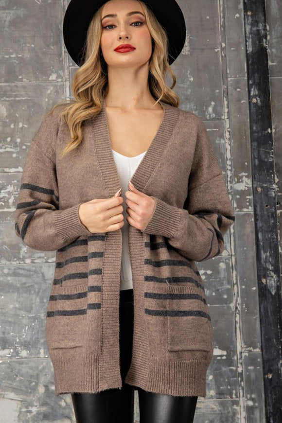 Steph Striped Cardigan
