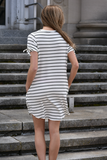 Main Street Striped Dress with Pockets