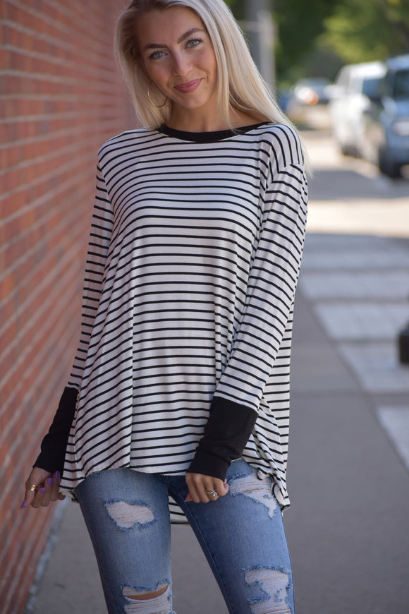 Hadley Stripe Long Sleeve Top