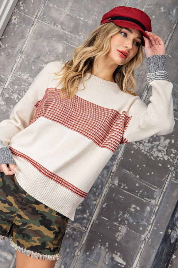Tara Rae Striped Sweater