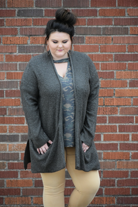 Tea Time Open Cardigan Sweater