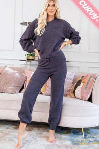 Teddy Soft Plus Sized Lounge Pants