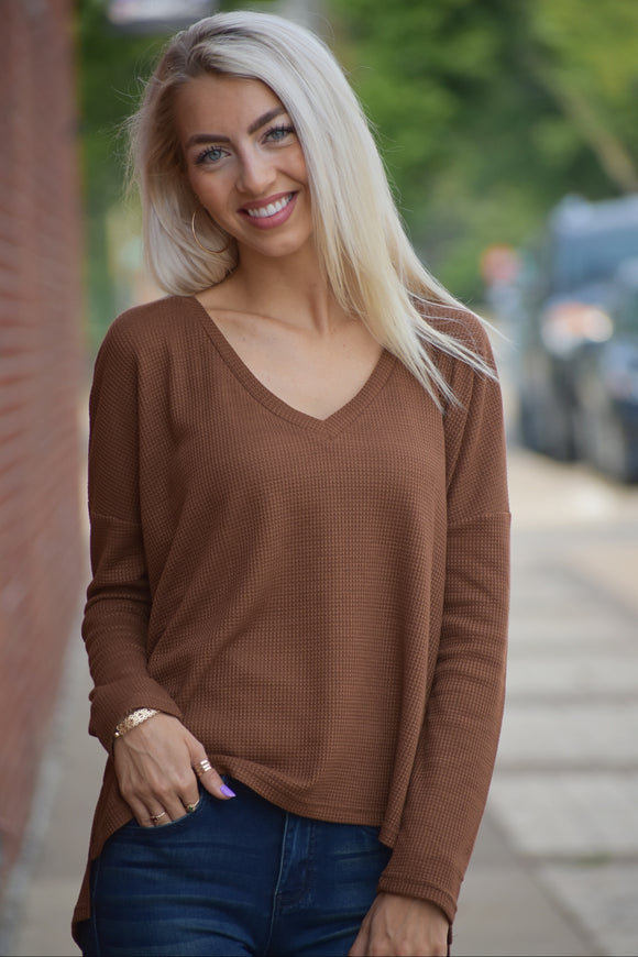 Thelma Waffle Knit Top