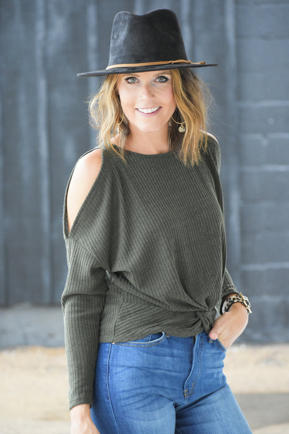Urban Twist Cold Shoulder Top