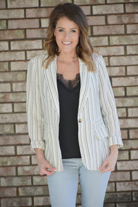 Avena Striped Blazer