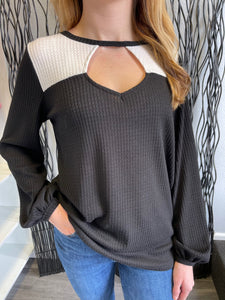 Whitney Waffle Knit Top