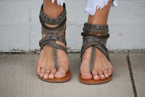Wilma Jeweled Strappy Sandals