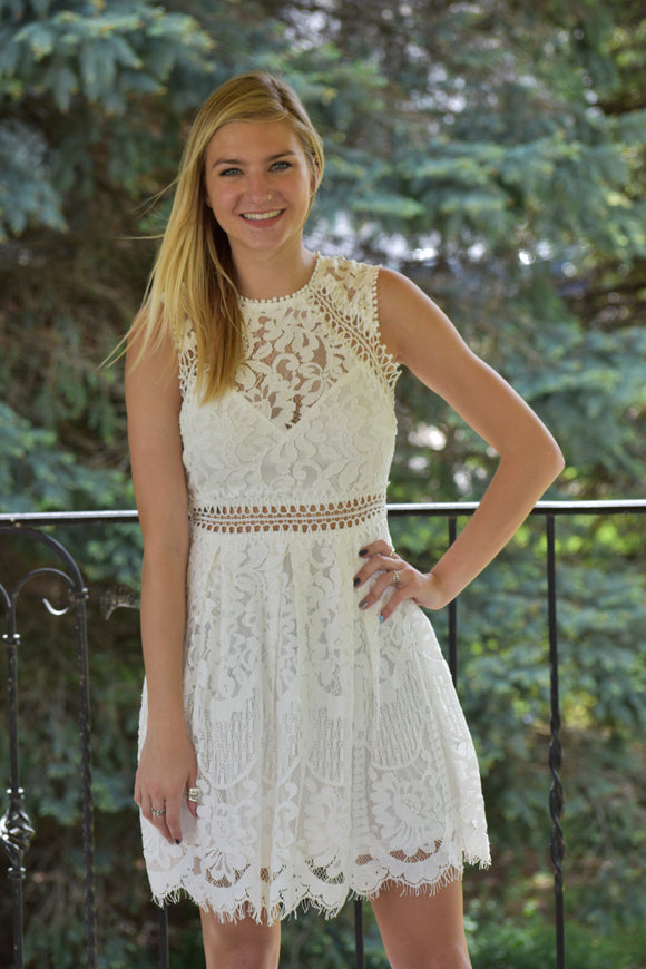 Cleopatra White Lace Dress
