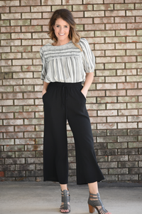 Arden Black Wide Leg Pants