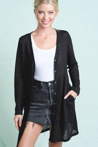 Nellie Lightweight Button Front Cardigan