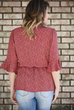 Blooming Prairie Floral Top
