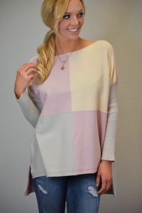 Color Me Spring color Blocked Sweater