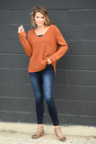 Criss Cross V-Neck Sweater
