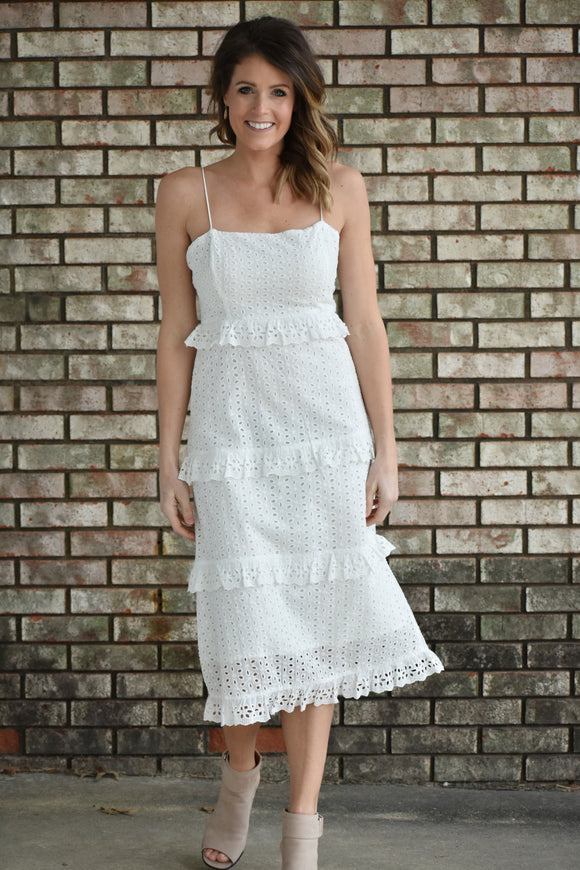 Mila Tiered Eyelet Dress