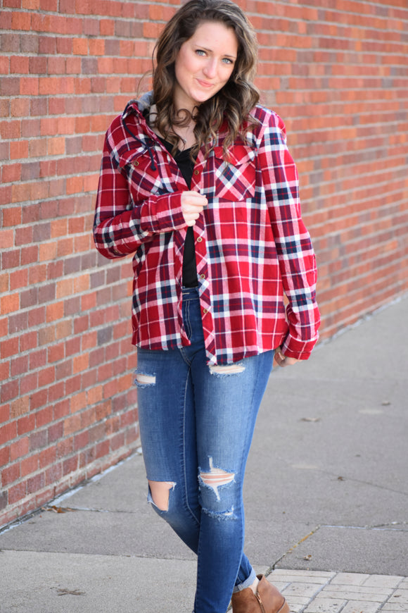 Fallin' Plaid Button Up