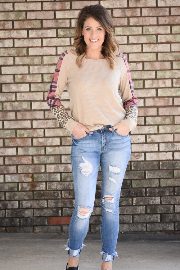 Flower Child Waffle Knit Top