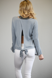 Misty Top with Open Back