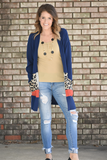 Nikita Color Block Leopard Print Cardigan