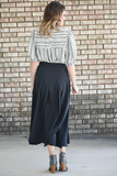 River Black & White Smocked Top