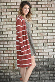 Quinn Striped Ribbed Cardigan