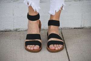 Sushi Strappy Stretch Sandals
