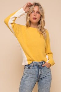 Rays of Fall Color Block Sweater