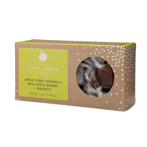 Image of Apple Cider Caramels with Apple Brandy + Walnuts Box