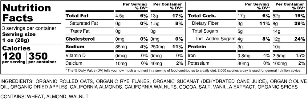Nutritional Info for Bohemian Highway Blend Granola