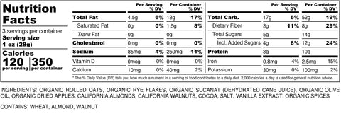 Image of Nutritional Info for Bohemian Highway Blend Granola