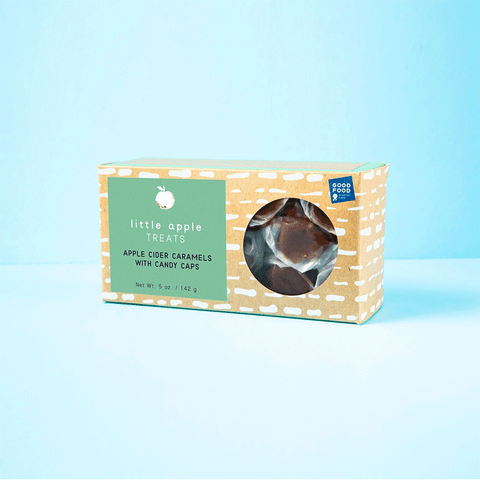 Candy Cap apple cider caramel box. Good food awards runner up