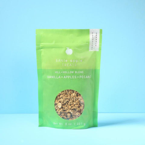 Image of large green bag with granola hill and hollow blend