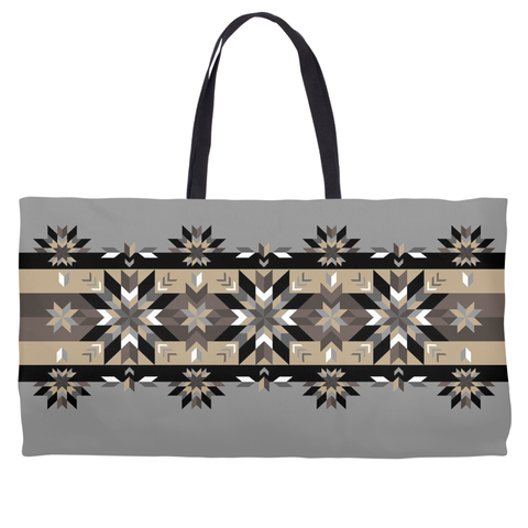 Authentic Native & Metis Geometric Floral Tote: Air Collection - Soul Curiosity