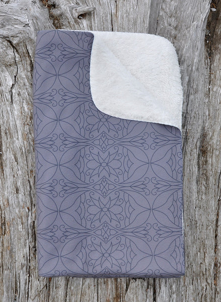 Authentic Native & Metis Taupe Sherpa Blanket: My Calling is Culture Collection - Soul Curiosity