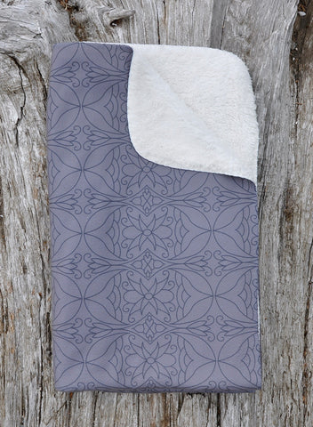 Fleece Taupe Sherpa Blanket: My Calling is Culture Collection - Soul Curiosity