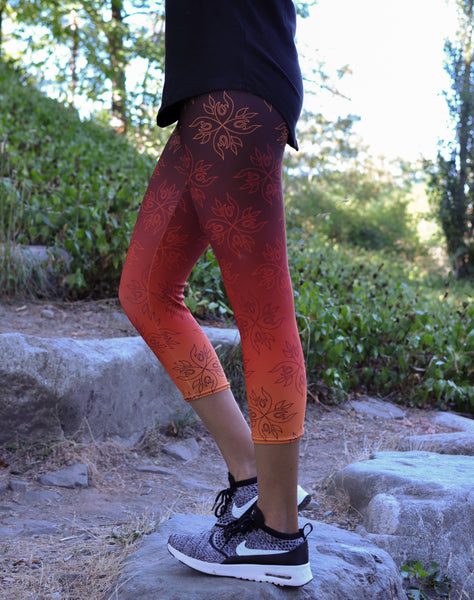 Native & Metis Capri Leggings: Fire Collection - Soul Curiosity