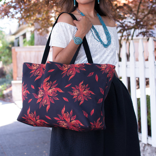 Authentic Native & Metis Tote: Fire Collection - Soul Curiosity