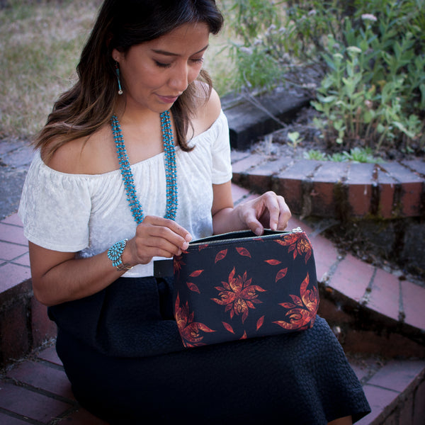 Authentic Native & Metis Pouch: Fire Collection - Soul Curiosity