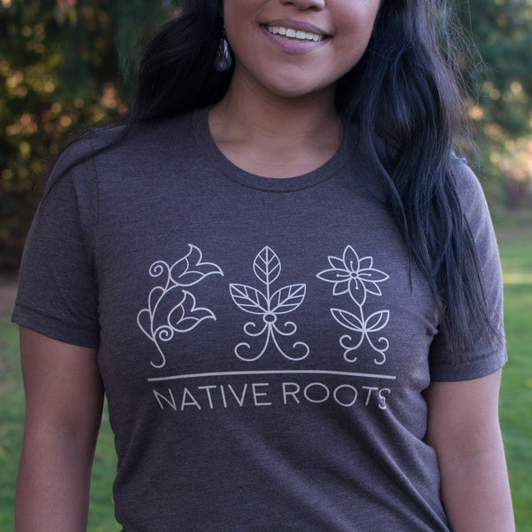 Native & Metis Tri-blend Roots Tee: Earth Collection - Soul Curiosity