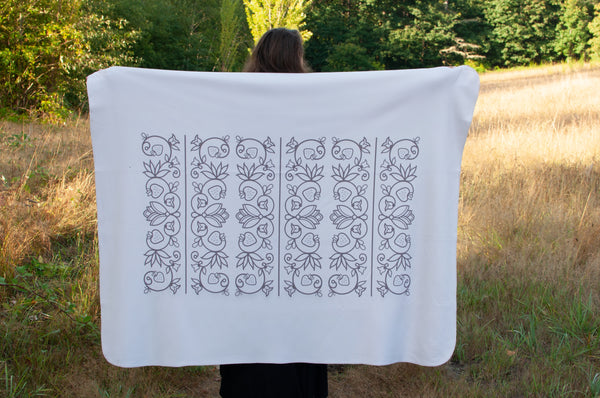 Native & Metis Cream Sherpa Blanket: Wedding Collection - Soul Curiosity