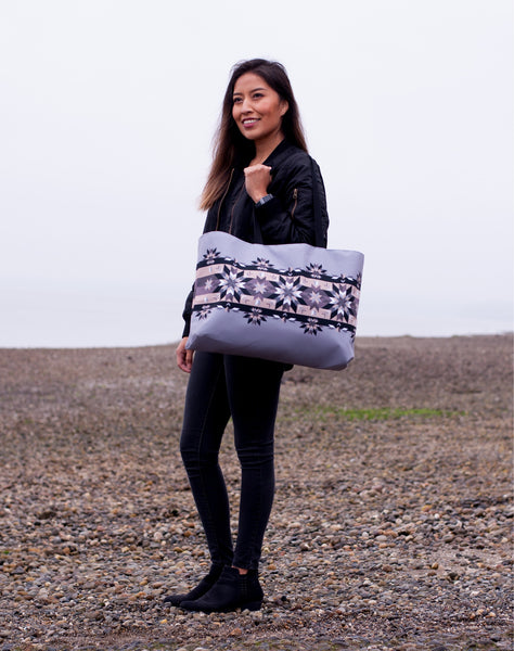 Native & Metis Geometric Floral Tote: Air Collection - Soul Curiosity