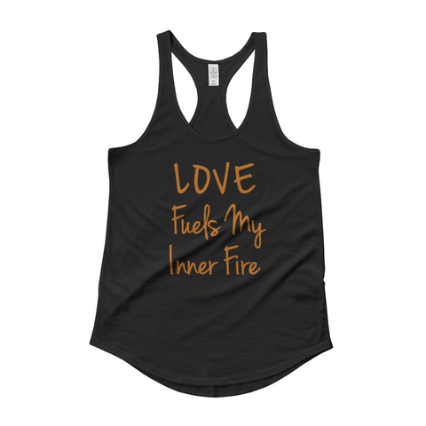 Native & Metis Verbiage Racerback Tank: Fire Collection - Soul Curiosity