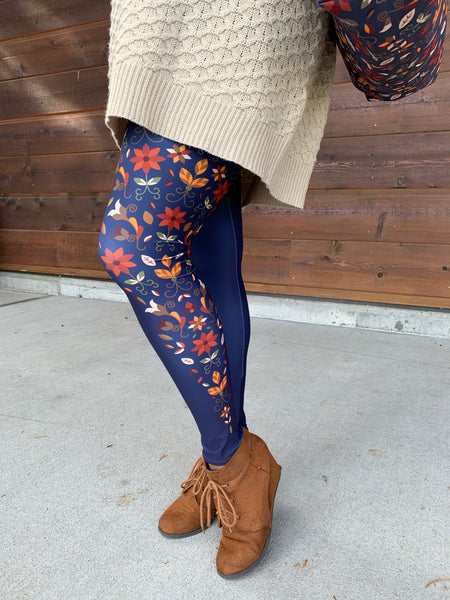 Native & Metis Roots Capri Leggings: Earth Collection - Soul Curiosity