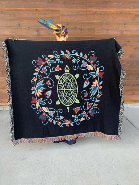 Native & Metis Woven Blanket: Resiliency Collection - Soul Curiosity