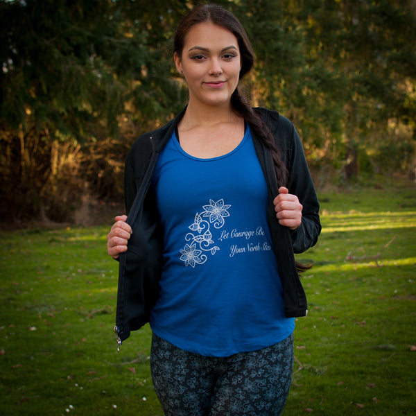 Cotton Blue Racerback Tank - Soul Curiosity