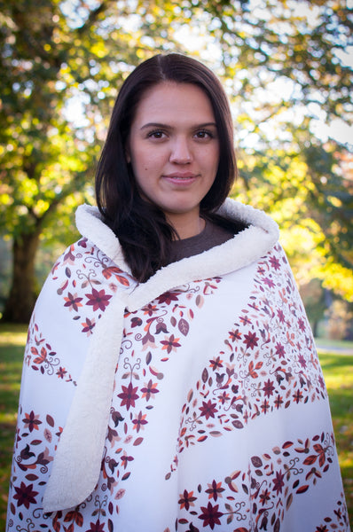 Authentic Native & Metis Native Roots Sherpa Blanket: Earth Collection - Soul Curiosity