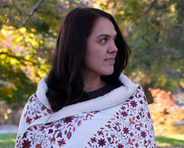 Fleece Native Roots Sherpa Blanket: Earth Collection - Soul Curiosity