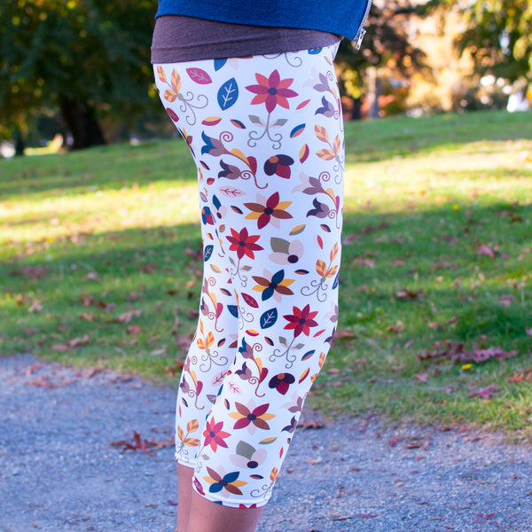 Authentic Native & Metis Roots Capri Leggings: Earth Collection - Soul Curiosity