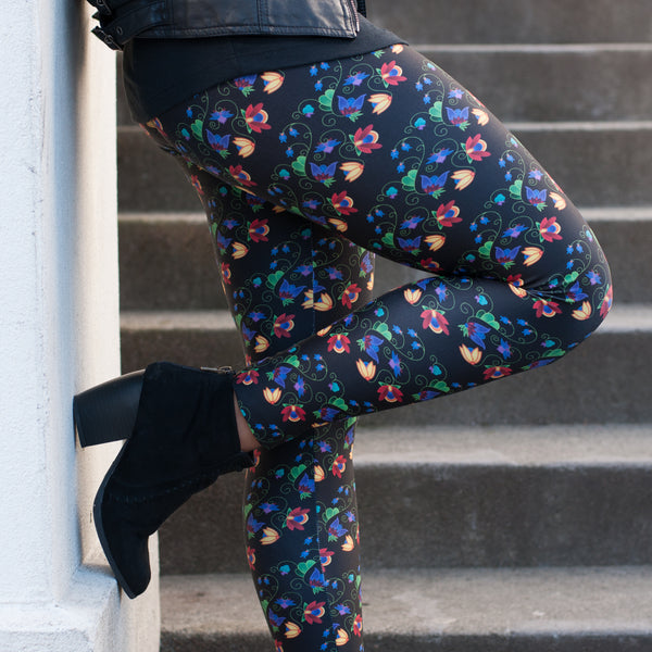 Authentic Native & Metis Black Leggings: Renewal Collection - Soul Curiosity