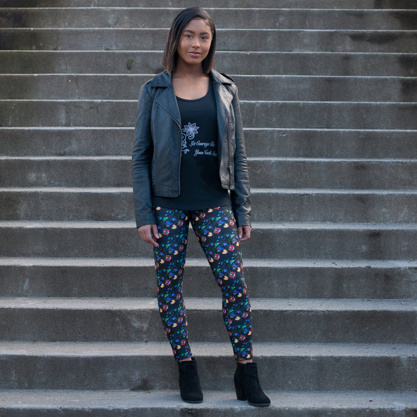Native & Metis Black Leggings: Renewal Collection - Soul Curiosity