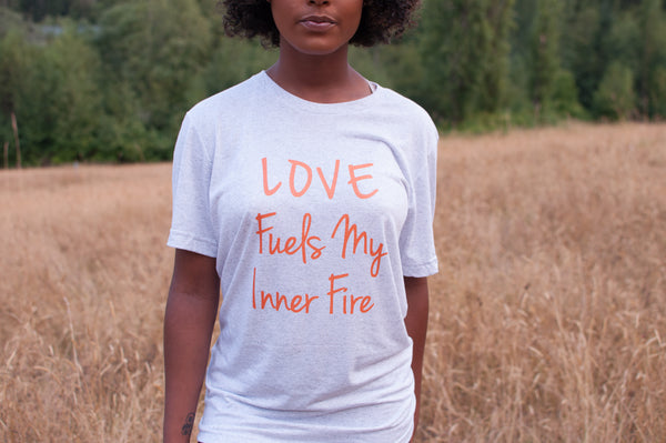 Native & Metis Tri-blend Fire Tee: Earth Collection - Soul Curiosity